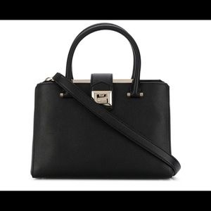 Jimmy Choo Marriene Black Leather Tote